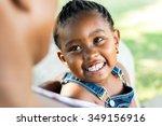 close up face shot of little...   Shutterstock . vector #349156916