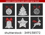 merry christmas and happy new... | Shutterstock .eps vector #349158572