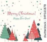 christmas card vector new year... | Shutterstock .eps vector #349161878