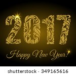 happy new year 2017. the... | Shutterstock .eps vector #349165616