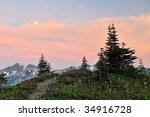 Tatoosh Mountain Range At...