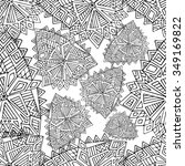 zentangle seamless pattern.... | Shutterstock .eps vector #349169822