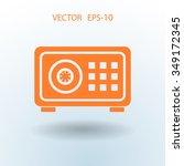 flat icon of safe | Shutterstock .eps vector #349172345