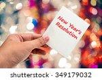 new year's  resolution... | Shutterstock . vector #349179032