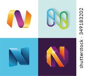 logo idea of letter n set | Shutterstock .eps vector #349183202