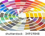 palette of different colors and