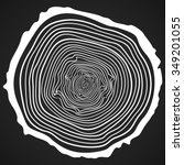 Vector Tree Rings Background...
