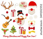 xmas photo booth and... | Shutterstock .eps vector #349202552