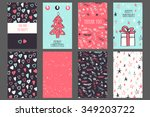 collection of 4 greeting cards. | Shutterstock .eps vector #349203722