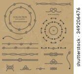vector set nautical elements of ... | Shutterstock .eps vector #349206476