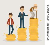 retirement money plan.... | Shutterstock .eps vector #349210646