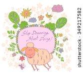 stylish cartoon card made of... | Shutterstock .eps vector #349217582