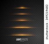 set of abstract lens flares  ... | Shutterstock .eps vector #349219682