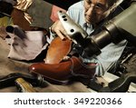 craftsman making luxury... | Shutterstock . vector #349220366