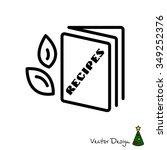 web line icon. recipe book | Shutterstock .eps vector #349252376