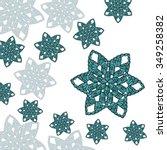 crochet elements  star and... | Shutterstock .eps vector #349258382
