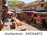 mostar  bosnia and herzegovina... | Shutterstock . vector #349266872