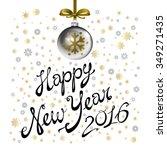 vector illustration of 2016... | Shutterstock .eps vector #349271435