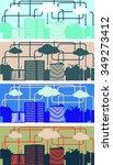 cloud computing. urban...   Shutterstock .eps vector #349273412