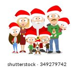 very adorable big family... | Shutterstock .eps vector #349279742
