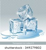 transparent  blue vector ice... | Shutterstock .eps vector #349279802
