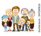 very adorable big family... | Shutterstock .eps vector #349280816