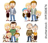 happy family collection  very... | Shutterstock .eps vector #349280876