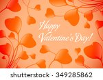 valentines day greeting card... | Shutterstock .eps vector #349285862