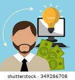 money and financial market... | Shutterstock .eps vector #349286708