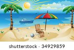 recreation background | Shutterstock .eps vector #34929859