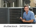 thirtyish air conditioning... | Shutterstock . vector #349301666