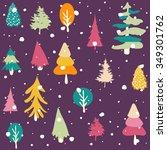 winter seamless pattern   Shutterstock .eps vector #349301762