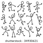 the stylized contours of people ... | Shutterstock .eps vector #34930621