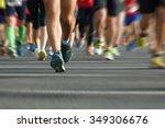 marathon runners in the race...   Shutterstock . vector #349306676