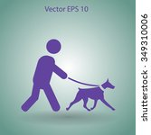 walking dog vector icon | Shutterstock .eps vector #349310006