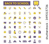 back to school  teacher ... | Shutterstock .eps vector #349315736