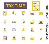 tax time  accounting ... | Shutterstock .eps vector #349316882