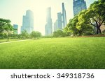 park in lujiazui financial... | Shutterstock . vector #349318736