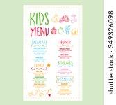 vector restaurant brochure ... | Shutterstock .eps vector #349326098