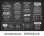 vector restaurant brochure ... | Shutterstock .eps vector #349326116