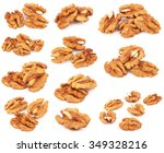 group of peeled walnuts... | Shutterstock . vector #349328216