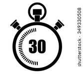 stopwatch vector icon  30... | Shutterstock .eps vector #349330508