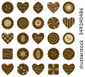 set of chocolate design | Shutterstock .eps vector #349340486