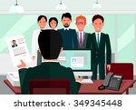 hiring recruiting interview.... | Shutterstock .eps vector #349345448
