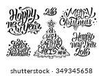 merry christmas  feliz navidad... | Shutterstock .eps vector #349345658