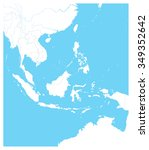 southeast asia outline map.... | Shutterstock .eps vector #349352642