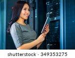 young engineer businesswoman... | Shutterstock . vector #349353275