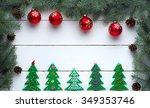beautiful celebratory christmas ... | Shutterstock . vector #349353746