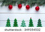 beautiful celebratory christmas ... | Shutterstock . vector #349354532