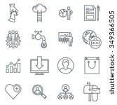 business and marketing icon set ... | Shutterstock .eps vector #349366505
